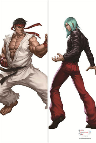 New Ryu and Remi - Street Fighter Male Anime Dakimakura Japanese Pillow Cover SF4 - Anime Dakimakura Pillow Shop | Fast, Free Shipping, Dakimakura Pillow & Cover shop, pillow For sale, Dakimakura Japan Store, Buy Custom Hugging Pillow Cover - 1
