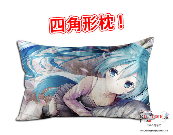 New Hatsune Miku - Vocaloid Anime Dakimakura 45 x 75cm Rectangle Pillow Cover GZFONG500 - Anime Dakimakura Pillow Shop | Fast, Free Shipping, Dakimakura Pillow & Cover shop, pillow For sale, Dakimakura Japan Store, Buy Custom Hugging Pillow Cover - 1