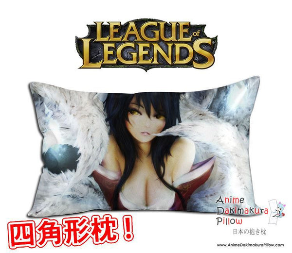 New Ahri - League of Legends Anime Waifu Dakimakura Rectangle 40x70cm Pillow Cover GZFONG-50 - Anime Dakimakura Pillow Shop | Fast, Free Shipping, Dakimakura Pillow & Cover shop, pillow For sale, Dakimakura Japan Store, Buy Custom Hugging Pillow Cover - 1