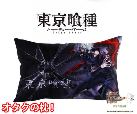 New Ken Kaneki - Tokyo Ghoul Anime Waifu Dakimakura Rectangle 40x70cm Pillow Cover GZFONG-55 - Anime Dakimakura Pillow Shop | Fast, Free Shipping, Dakimakura Pillow & Cover shop, pillow For sale, Dakimakura Japan Store, Buy Custom Hugging Pillow Cover - 1