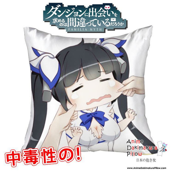 New Hestia - DanMachi 40x40cm Square Anime Dakimakura Waifu Throw Pillow Cover GZFONG57 - Anime Dakimakura Pillow Shop | Fast, Free Shipping, Dakimakura Pillow & Cover shop, pillow For sale, Dakimakura Japan Store, Buy Custom Hugging Pillow Cover - 1