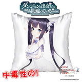 New Hestia - DanMachi 40x40cm Square Anime Dakimakura Waifu Throw Pillow Cover GZFONG58 - Anime Dakimakura Pillow Shop | Fast, Free Shipping, Dakimakura Pillow & Cover shop, pillow For sale, Dakimakura Japan Store, Buy Custom Hugging Pillow Cover - 1