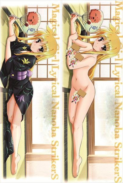 New Magical Girl Lyrical Nanoha Anime Dakimakura Japanese Pillow Cover MGLN32 - Anime Dakimakura Pillow Shop | Fast, Free Shipping, Dakimakura Pillow & Cover shop, pillow For sale, Dakimakura Japan Store, Buy Custom Hugging Pillow Cover - 1