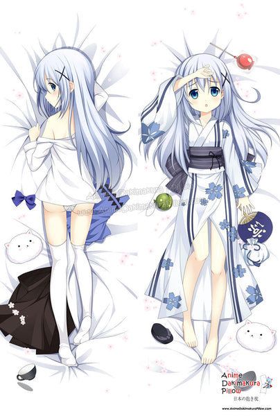 New Chino Kafuu - Is the Order Rabbit Anime Dakimakura Japanese Hugging Body Pillow Cover ADP-61031