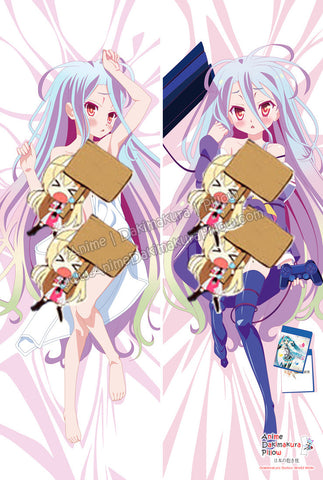 New Shiro - No Game No Life Anime Dakimakura Japanese Hugging Body Pillow Cover ADP-61090 - Anime Dakimakura Pillow Shop | Fast, Free Shipping, Dakimakura Pillow & Cover shop, pillow For sale, Dakimakura Japan Store, Buy Custom Hugging Pillow Cover - 1