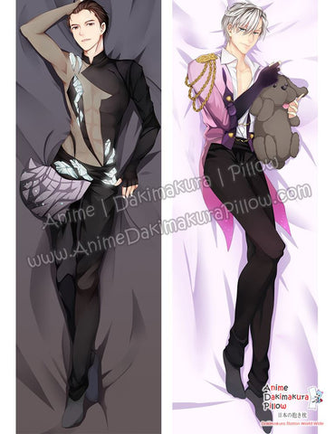 New Yuri on Ice Male Anime Dakimakura Japanese Hugging Body Pillow Cover ADP-612069