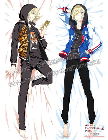 New Yuri Plisetsky - Yuri on Ice Male Anime Dakimakura Japanese Hugging Body Pillow Cover ADP-612072