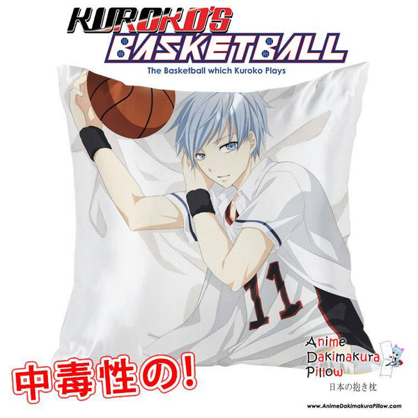 New Kuroko Tetsuya - Kuroko no Basket 40x40cm Square Anime Dakimakura Waifu Throw Pillow Cover GZFONG61 - Anime Dakimakura Pillow Shop | Fast, Free Shipping, Dakimakura Pillow & Cover shop, pillow For sale, Dakimakura Japan Store, Buy Custom Hugging Pillow Cover - 1