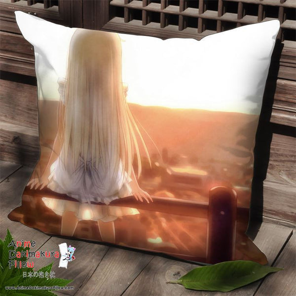 New AnoHana Anime Dakimakura Square Pillow Cover SPC65 - Anime Dakimakura Pillow Shop | Fast, Free Shipping, Dakimakura Pillow & Cover shop, pillow For sale, Dakimakura Japan Store, Buy Custom Hugging Pillow Cover - 1