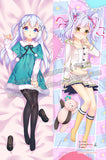 New Kurumi Kumamakura  - Myriad Colors Phantom World Chino Kafu - Is the Order a Rabbit Anime Dakimakura Japanese Hugging Body Pillow Cover ADP-66032 ADP-66037 - Anime Dakimakura Pillow Shop | Fast, Free Shipping, Dakimakura Pillow & Cover shop, pillow For sale, Dakimakura Japan Store, Buy Custom Hugging Pillow Cover - 1