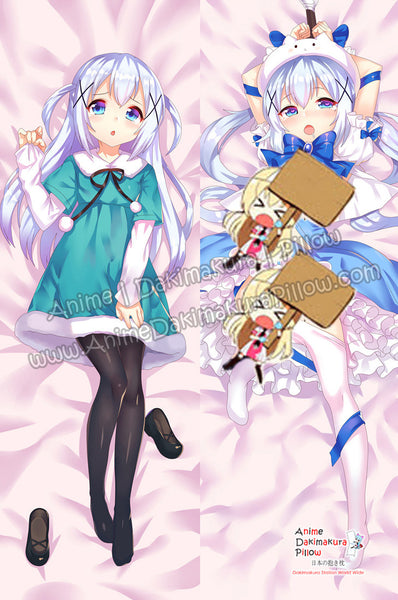 New Chino Kafu - Is the Order a Rabbit Anime Dakimakura Japanese Hugging Body Pillow Cover ADP-66032 - Anime Dakimakura Pillow Shop | Fast, Free Shipping, Dakimakura Pillow & Cover shop, pillow For sale, Dakimakura Japan Store, Buy Custom Hugging Pillow Cover - 1