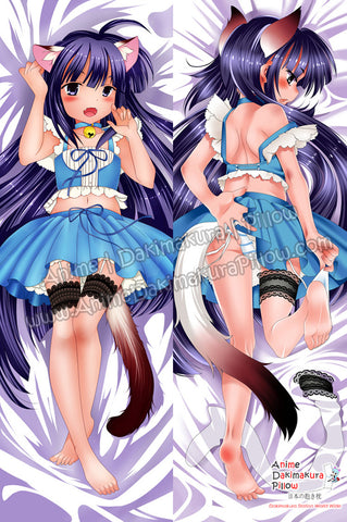 New Cute Violet Hair Loli Neko  Anime Dakimakura Japanese Hugging Body Pillow Cover ADP-67025 - Anime Dakimakura Pillow Shop | Fast, Free Shipping, Dakimakura Pillow & Cover shop, pillow For sale, Dakimakura Japan Store, Buy Custom Hugging Pillow Cover - 1