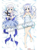 New Chino Kafuu - Is the Order Rabbit Anime Dakimakura Japanese Hugging Body Pillow Cover ADP-67064 - Anime Dakimakura Pillow Shop | Fast, Free Shipping, Dakimakura Pillow & Cover shop, pillow For sale, Dakimakura Japan Store, Buy Custom Hugging Pillow Cover - 1