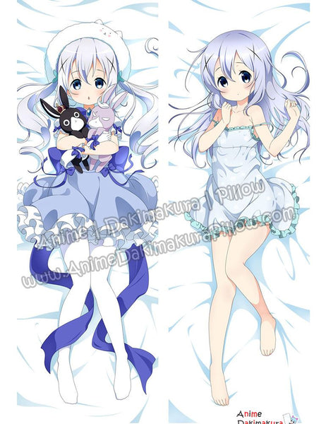 New Chino Kafuu - Is the Order Rabbit Anime Dakimakura Japanese Hugging Body Pillow Cover ADP-67064