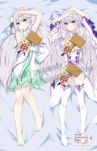 New Emilia - Re:Zero Anime Dakimakura Japanese Hugging Body Pillow Cover ADP-68012 - Anime Dakimakura Pillow Shop | Fast, Free Shipping, Dakimakura Pillow & Cover shop, pillow For sale, Dakimakura Japan Store, Buy Custom Hugging Pillow Cover - 1