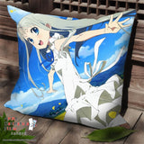 New AnoHana Anime Dakimakura Square Pillow Cover SPC68 - Anime Dakimakura Pillow Shop | Fast, Free Shipping, Dakimakura Pillow & Cover shop, pillow For sale, Dakimakura Japan Store, Buy Custom Hugging Pillow Cover - 1