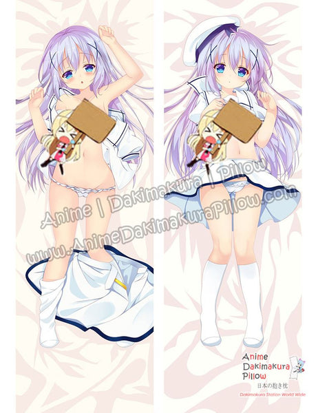 New Chino Kafuu - Is the Order Rabbit Anime Dakimakura Japanese Hugging Body Pillow Cover ADP-69003 - Anime Dakimakura Pillow Shop | Fast, Free Shipping, Dakimakura Pillow & Cover shop, pillow For sale, Dakimakura Japan Store, Buy Custom Hugging Pillow Cover - 1