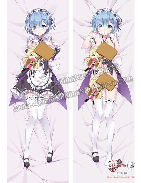 New Rem - Re Zero Anime Dakimakura Japanese Hugging Body Pillow Cover ADP-69028