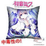 New Hatsune Miku - Vocaloid 40x40cm Square Anime Dakimakura Waifu Throw Pillow Cover GZFONG69 - Anime Dakimakura Pillow Shop | Fast, Free Shipping, Dakimakura Pillow & Cover shop, pillow For sale, Dakimakura Japan Store, Buy Custom Hugging Pillow Cover - 1