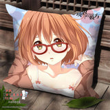 New Kuriyama Mirai - Kyoukai no Kanata Anime Dakimakura Square Pillow Cover SPC69 - Anime Dakimakura Pillow Shop | Fast, Free Shipping, Dakimakura Pillow & Cover shop, pillow For sale, Dakimakura Japan Store, Buy Custom Hugging Pillow Cover - 1