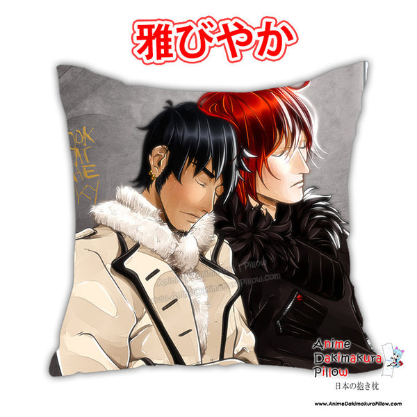 New Kid X Law - One Piece Anime Dakimakura Japanese Square Pillow Cover Custom Designer ElyonBlackStar ADC485