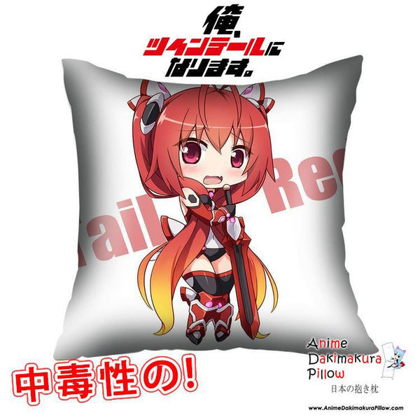 New Souji Mitsuka - Ore Twintail ni Narimasu 40x40cm Square Anime Dakimakura Waifu Throw Pillow Cover GZFONG70