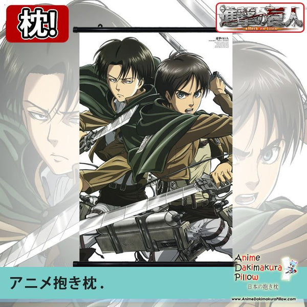 New Attack on Titan Japanese Anime Art Wall Scroll Poster Limited Edition High Quality GZFONG071 - Anime Dakimakura Pillow Shop | Fast, Free Shipping, Dakimakura Pillow & Cover shop, pillow For sale, Dakimakura Japan Store, Buy Custom Hugging Pillow Cover - 1