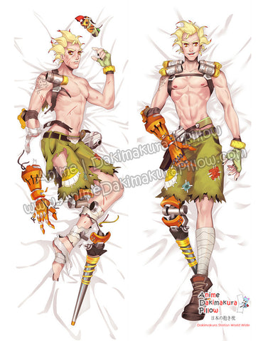 New-Junkrat-Overwatch-Male-Anime-Dakimakura-Japanese-Hugging-Body-Pillow-Cover-ADP72037