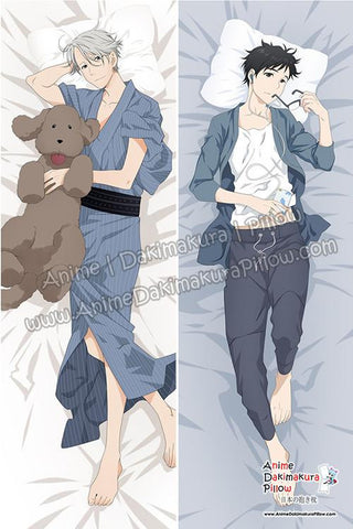 New Viktor Nikiforov and Yuri Katsuki - Yuri on Ice!!! Male Anime Dakimakura Japanese Hugging Body Pillow Cover ADP77028