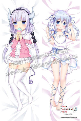 New-Kanna-Kamui-Miss-Kobayashi's-Dragon-Maid-and-Chino-Kafu-Is-the-Order-a-Rabbit-Anime-Dakimakura-Japanese-Hugging-Body-Pillow-Cover-ADP78014-ADP78014