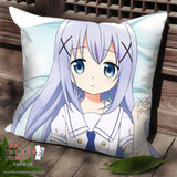 New Chino Kaffu - Is The Order Rabbit Anime Dakimakura Square Pillow Cover SPC83 - Anime Dakimakura Pillow Shop | Fast, Free Shipping, Dakimakura Pillow & Cover shop, pillow For sale, Dakimakura Japan Store, Buy Custom Hugging Pillow Cover - 1