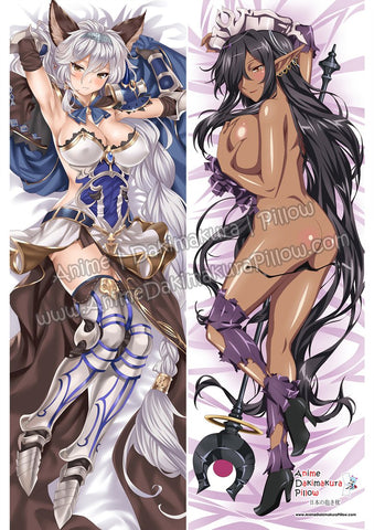 New Heles - Granblue Fantasy and Olga Discordia - Kuroinu ~Kedakaki Seijo wa Hakudaku ni Somaru Anime Dakimakura Japanese Hugging Body Pillow Cover ADP85052 ADP85080