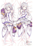 New Emilia - Re Zero Anime Dakimakura Japanese Hugging Body Pillow Cover ADP85054