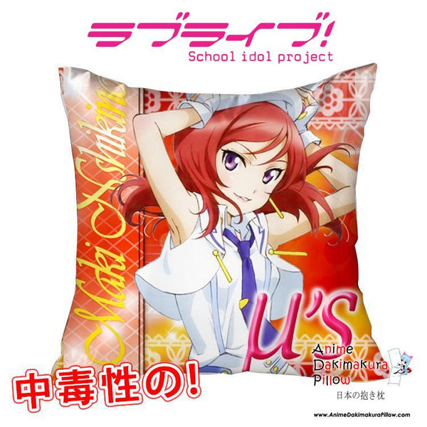 New Maki Nishikino - Love Live 40x40cm Square Anime Dakimakura Waifu Throw Pillow Cover GZFONG85 - Anime Dakimakura Pillow Shop | Fast, Free Shipping, Dakimakura Pillow & Cover shop, pillow For sale, Dakimakura Japan Store, Buy Custom Hugging Pillow Cover - 1