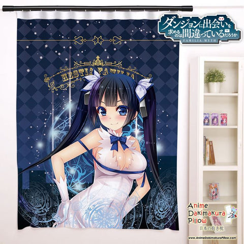 New Hestia - DanMachi Anime Japanese Window Curtain Door Entrance Room Partition H0085 - Anime Dakimakura Pillow Shop | Fast, Free Shipping, Dakimakura Pillow & Cover shop, pillow For sale, Dakimakura Japan Store, Buy Custom Hugging Pillow Cover - 1