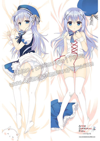 New Chino Kafu - Is the Order a Rabbit Anime Dakimakura Japanese Hugging Body Pillow Cover ADP86010