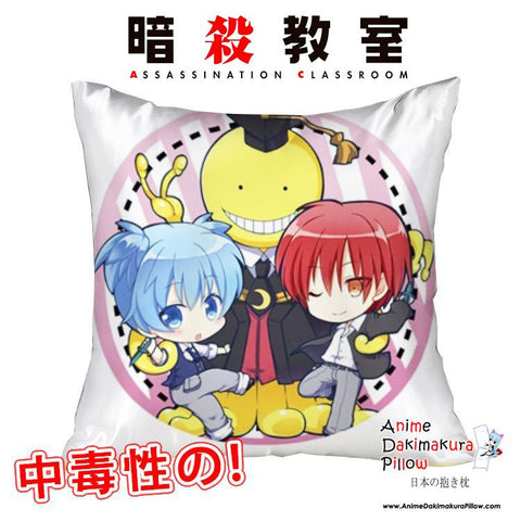 New Assassination Classroom 40x40cm Square Anime Dakimakura Waifu Throw Pillow Cover GZFONG88 - Anime Dakimakura Pillow Shop | Fast, Free Shipping, Dakimakura Pillow & Cover shop, pillow For sale, Dakimakura Japan Store, Buy Custom Hugging Pillow Cover - 1
