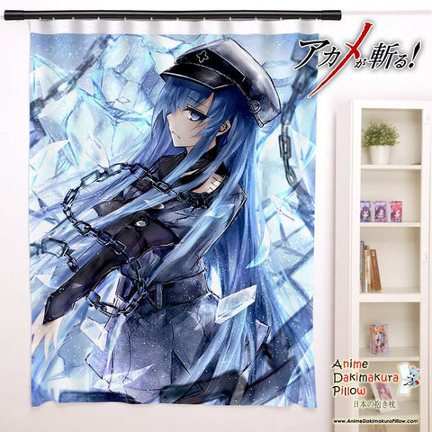 New Esdeath - Akame ga Kill Anime Japanese Window Curtain Door Entrance Room Partition H0089 - Anime Dakimakura Pillow Shop | Fast, Free Shipping, Dakimakura Pillow & Cover shop, pillow For sale, Dakimakura Japan Store, Buy Custom Hugging Pillow Cover - 1