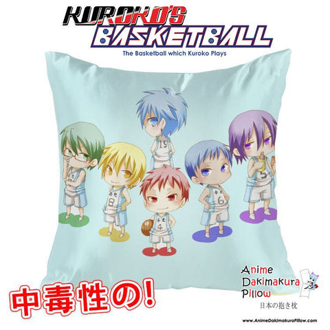 New Kuroko no Basket 40x40cm Square Anime Dakimakura Waifu Throw Pillow Cover GZFONG90 - Anime Dakimakura Pillow Shop | Fast, Free Shipping, Dakimakura Pillow & Cover shop, pillow For sale, Dakimakura Japan Store, Buy Custom Hugging Pillow Cover - 1
