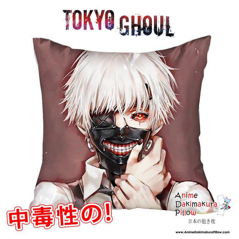 New Ken Kaneki - Tokyo Ghoul 40x40cm Square Anime Dakimakura Waifu Throw Pillow Cover GZFONG92 - Anime Dakimakura Pillow Shop | Fast, Free Shipping, Dakimakura Pillow & Cover shop, pillow For sale, Dakimakura Japan Store, Buy Custom Hugging Pillow Cover - 1