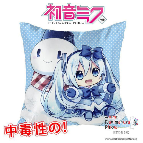 New Hatsune Miku - Vocaloid 40x40cm Square Anime Dakimakura Waifu Throw Pillow Cover GZFONG93 - Anime Dakimakura Pillow Shop | Fast, Free Shipping, Dakimakura Pillow & Cover shop, pillow For sale, Dakimakura Japan Store, Buy Custom Hugging Pillow Cover - 1