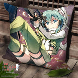 New Asada Shino Sinon - Sword Art Online Anime Dakimakura Square Pillow Cover SPC93 - Anime Dakimakura Pillow Shop | Fast, Free Shipping, Dakimakura Pillow & Cover shop, pillow For sale, Dakimakura Japan Store, Buy Custom Hugging Pillow Cover - 1