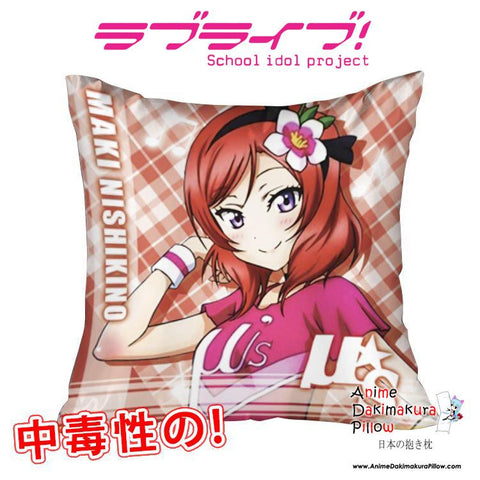 New Maki Nishikino - Love Live 40x40cm Square Anime Dakimakura Waifu Throw Pillow Cover GZFONG94 - Anime Dakimakura Pillow Shop | Fast, Free Shipping, Dakimakura Pillow & Cover shop, pillow For sale, Dakimakura Japan Store, Buy Custom Hugging Pillow Cover - 1