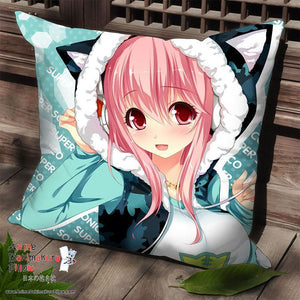 New Super Sonico Anime Dakimakura Square Pillow Cover SPC95