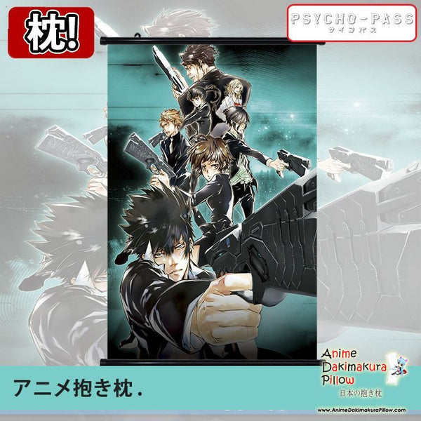 New Psycho Pass Japanese Anime Art Wall Scroll Poster Limited Edition High Quality GZFONG096 - Anime Dakimakura Pillow Shop | Fast, Free Shipping, Dakimakura Pillow & Cover shop, pillow For sale, Dakimakura Japan Store, Buy Custom Hugging Pillow Cover - 1