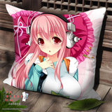 New Super Sonico Anime Dakimakura Square Pillow Cover SPC96 - Anime Dakimakura Pillow Shop | Fast, Free Shipping, Dakimakura Pillow & Cover shop, pillow For sale, Dakimakura Japan Store, Buy Custom Hugging Pillow Cover - 1