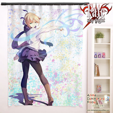 New Saber - Fate Stay Night Anime Japanese Window Curtain Door Entrance Room Partition H0096 - Anime Dakimakura Pillow Shop | Fast, Free Shipping, Dakimakura Pillow & Cover shop, pillow For sale, Dakimakura Japan Store, Buy Custom Hugging Pillow Cover - 1