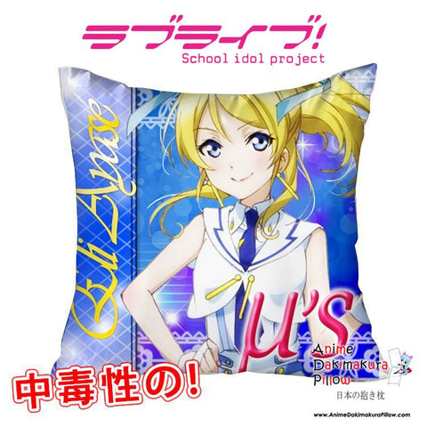 New Ayase Eli - Love Live 40x40cm Square Anime Dakimakura Waifu Throw Pillow Cover GZFONG97 - Anime Dakimakura Pillow Shop | Fast, Free Shipping, Dakimakura Pillow & Cover shop, pillow For sale, Dakimakura Japan Store, Buy Custom Hugging Pillow Cover - 1