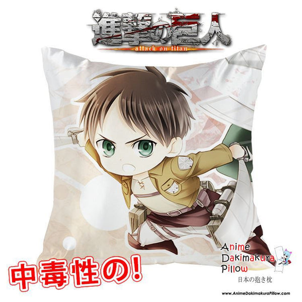 New Eren Jaeger - Attack on Titan 40x40cm Square Anime Dakimakura Waifu Throw Pillow Cover GZFONG98 - Anime Dakimakura Pillow Shop | Fast, Free Shipping, Dakimakura Pillow & Cover shop, pillow For sale, Dakimakura Japan Store, Buy Custom Hugging Pillow Cover - 1