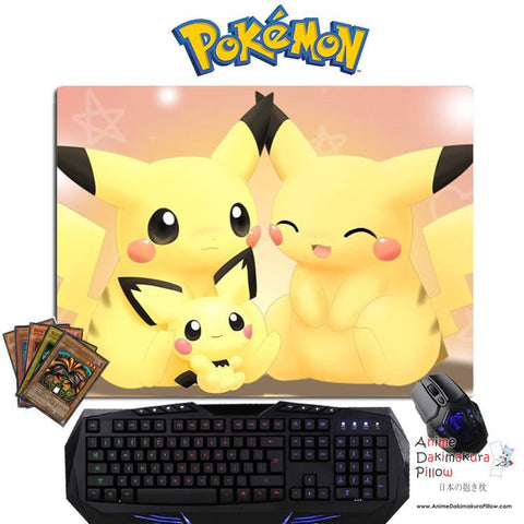New Pikachu - Pokemon Anime Gaming Mouse Pad Deluxe Multipurpose Playmat GZFONG-P09 - Anime Dakimakura Pillow Shop | Fast, Free Shipping, Dakimakura Pillow & Cover shop, pillow For sale, Dakimakura Japan Store, Buy Custom Hugging Pillow Cover - 1